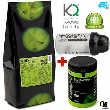 +WATT WHEY PROTEIN 90 750gr PROTEINE DEL SIERO ISOLATE + 100 GLUTAMMINA KYOWA - PROTEINE - in vendita su Nutribay.it