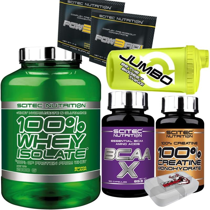 SCITEC 100% Whey Isolate 2000gr 2kg Proteine Siero +120 AMINOACIDI + CREATINA ! in vendita su Nutribay.it