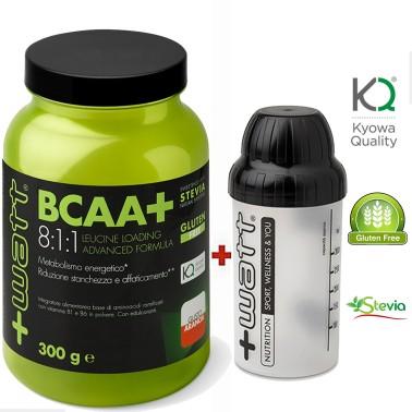 +WATT Ramificati BCAA+ POLVERE 8:1:1 KYOWA 300gr AMINOACIDI + VITAMINE SHAKER - AMINOACIDI BCAA 8.1.1 - in vendita su Nutriba...