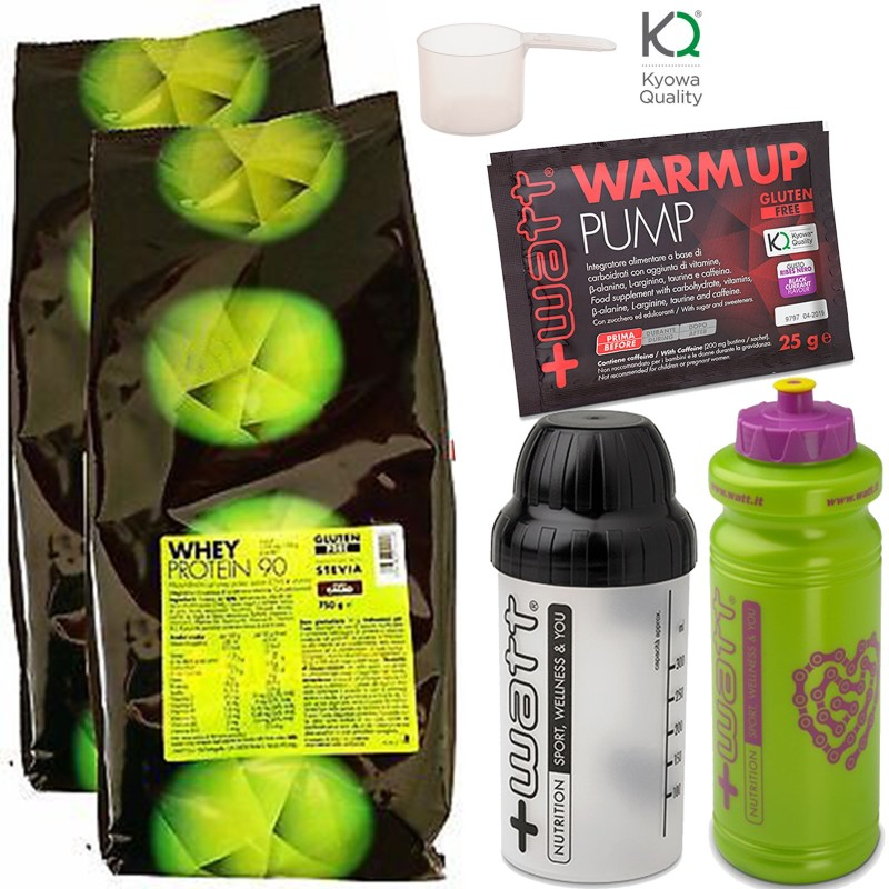 +WATT Whey 90 % Proteine Siero Del Latte Isolate Ultrafiltrate + Vitamine Shaker in vendita su Nutribay.it