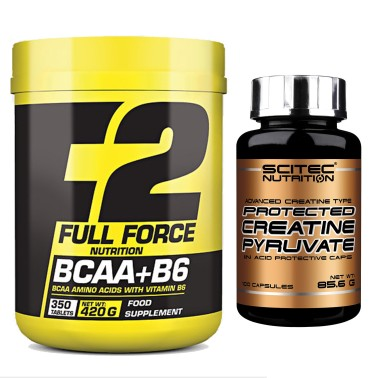 F2 FULL FORCE BCAA + VITAMINA B6 350 cpr AMINOACIDI RAMIFICATI + CREATINA SCITEC in vendita su Nutribay.it