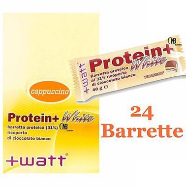 +WATT Protein+ White 24 Barrette Proteiche Con Proteine Del Siero Del Latte Whey in vendita su Nutribay.it
