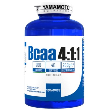 Bcaa 4:1:1 di YAMAMOTO NUTRITION con Vitamine B1 e B6 - 200 cpr - 40 dosi in vendita su Nutribay.it