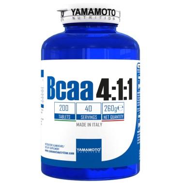 Bcaa 4:1:1 di YAMAMOTO NUTRITION con Vitamine B1 e B6 - 200 cpr - 40 dosi in vendita su Nutribay.it