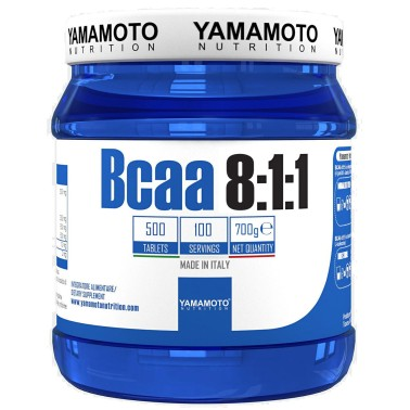 Bcaa 8:1:1 di YAMAMOTO NUTRITION con Vitamine B1 e B6 - 500 cpr - 100 dosi in vendita su Nutribay.it