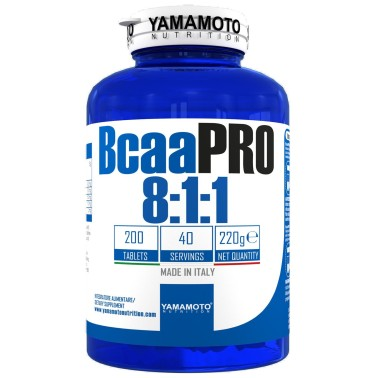 Bcaa PRO 8:1:1 Kyowa Quality di YAMAMOTO NUTRITION - 200 cpr - 40 dosi in vendita su Nutribay.it