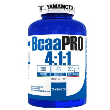 Bcaa PRO 4:1:1 Kyowa Quality di YAMAMOTO NUTRITION - 200 cpr - 40 dosi in vendita su Nutribay.it
