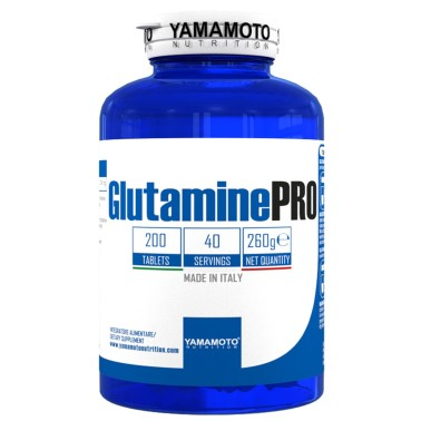 Glutamine PRO Kyowa Quality di YAMAMOTO NUTRITION - 200 cpr - 40 Dosi GLUTAMMINA in vendita su Nutribay.it