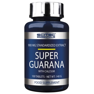 SCITEC NUTRITION Super Guarana' 100 cpr. Energetico Stimolante Tonico + Calcio in vendita su Nutribay.it