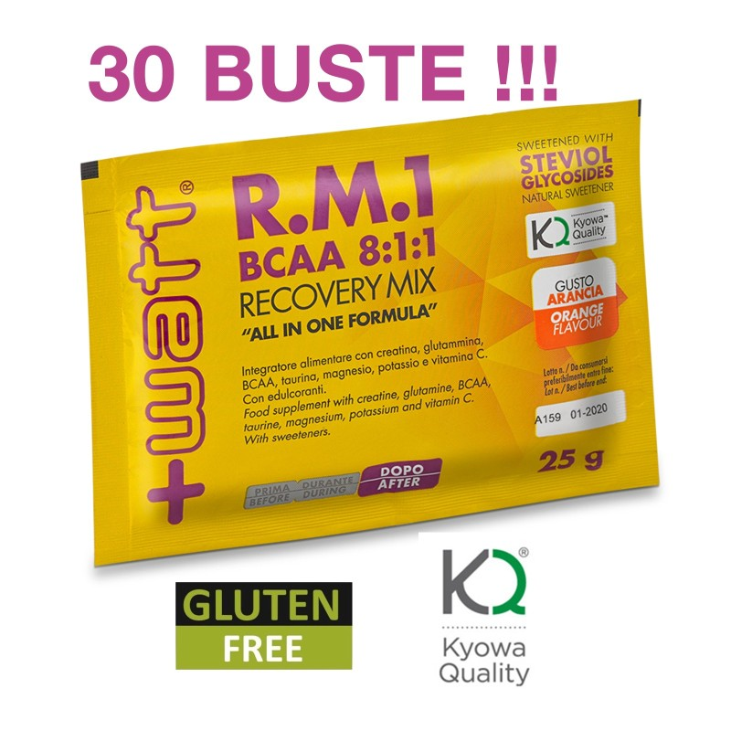 +WATT R.M.1 RM1 Aminoacidi Ramificati BCAA 8:1:1 Kyowa Taurina Potassio Creatina in vendita su Nutribay.it