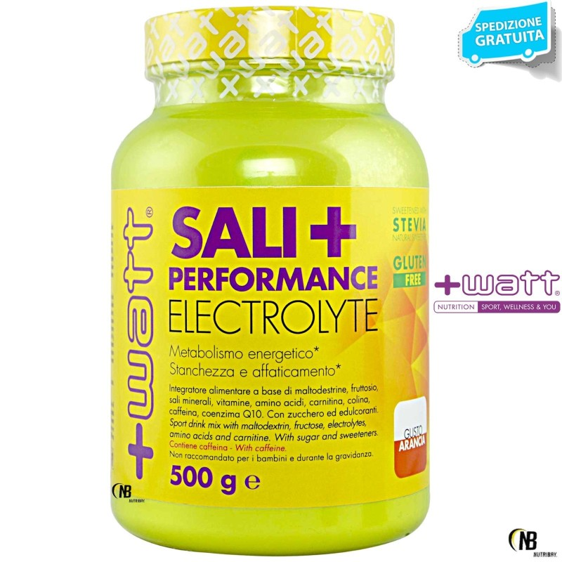 +WATT SALI+PERFORMANCE sali minerali POTASSIO MAGNESIO MALTODESTRINE+VITAMINE in vendita su Nutribay.it