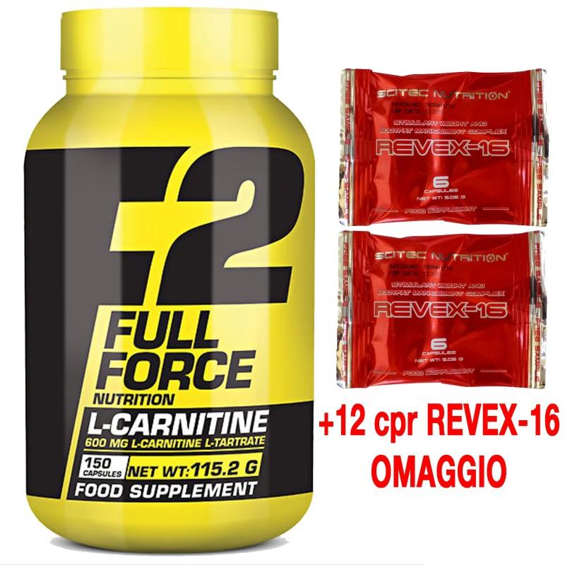 Scitec Nutrition FF Carnitina 150 cpr + 12 cps Revex-16 Bruciagrassi Dimagrante in vendita su Nutribay.it