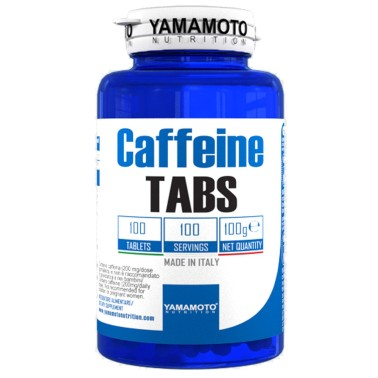 Caffeine TABS di YAMAMOTO NUTRITION - 100 cpr - 100 dosi - CAFFEINA - in vendita su Nutribay.it