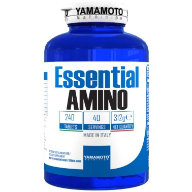 Essential AMINO di YAMAMOTO NUTRITION - 240 cpr - 40 dosi - AMINOACIDI COMPLETI in vendita su Nutribay.it