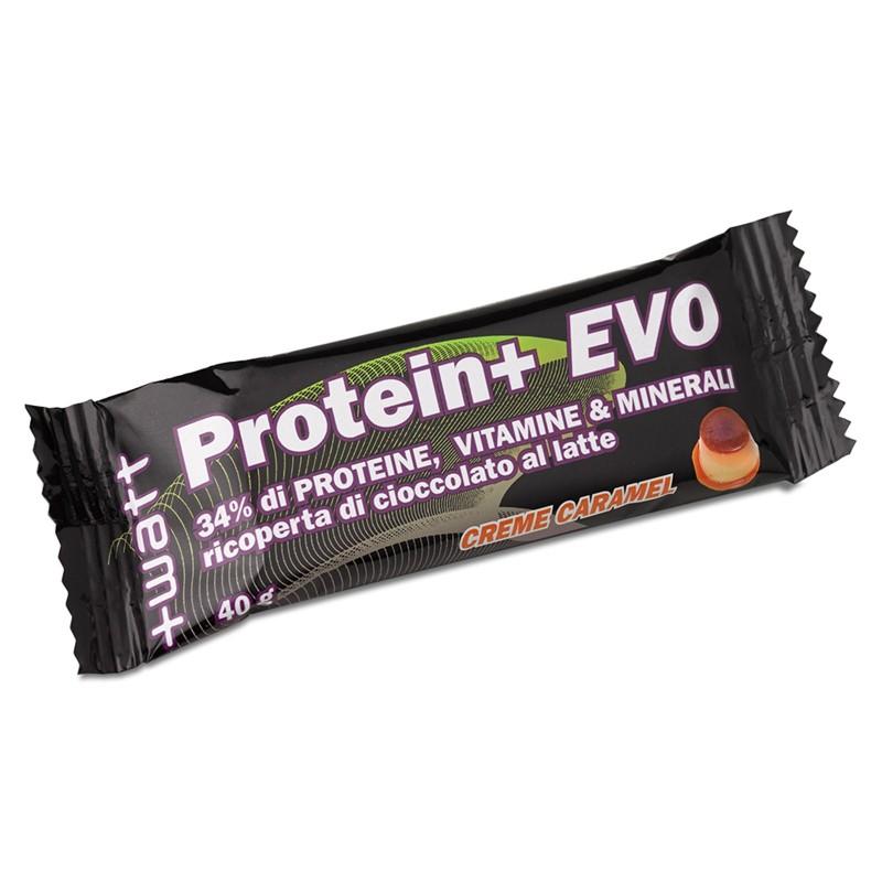 +WATT 24 BARRETTE PROTEICHE DA 40GR. BAR Protein+ EVO PROTEINE BCAA PALESTRA in vendita su Nutribay.it