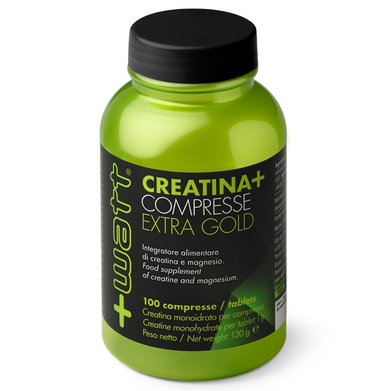 +WATT CREATINA EXTRA GOLD CREATINA+ 100 cpr. qualita' purissima CREAPURE in vendita su Nutribay.it