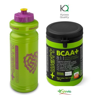 +WATT Ramificati BCAA + Leucina 8:1:1 KYOWA 100 gr. AMINOACIDI 811 + BORRACCIA in vendita su Nutribay.it