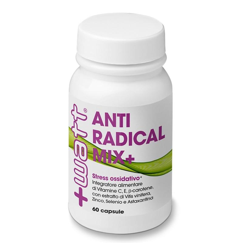 +WATT ANTIRADICAL MIX+ 60 cps. Potente Antiossidante con Selenio e Beta Carotene in vendita su Nutribay.it