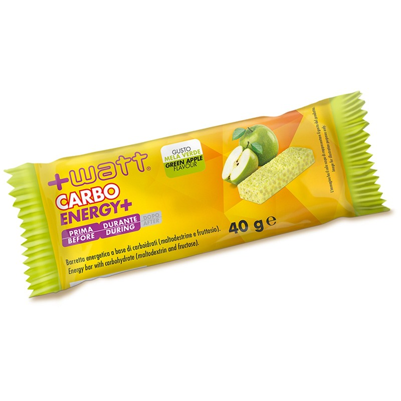 +WATT CARBO+ 20 Barrette Energetiche con Maltodestrine Gusto MELA VERDE - BARRETTE in vendita su Nutribay.it
