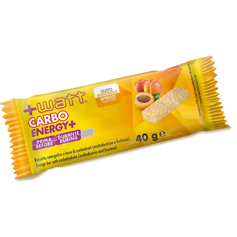 +WATT CARBO+ 20 Barrette Energetiche con Maltodestrine Gusto ALBICOCCA - BARRETTE - in vendita su Nutribay.it