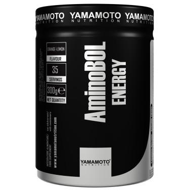 AminoBol ENERGY di YAMAMOTO NUTRITION - 300 g. - 35 dosi - PRE ALLENAMENTO - in vendita su Nutribay.it