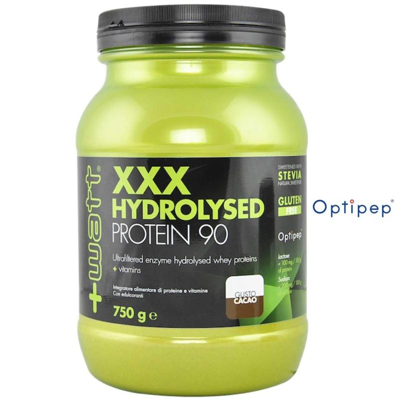 +Watt XXX Hydrolysed Pro 90 750 gr in vendita su Nutribay.it