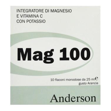 Mag 100 di ANDERSON - 10 fiale da 25ml - SALI MINERALI - in vendita su Nutribay.it