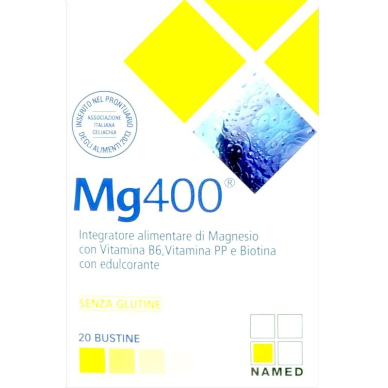 Named Sport MG400 20 buste Magnesio con Vitamina B6 Niacina e Biotina in vendita su Nutribay.it