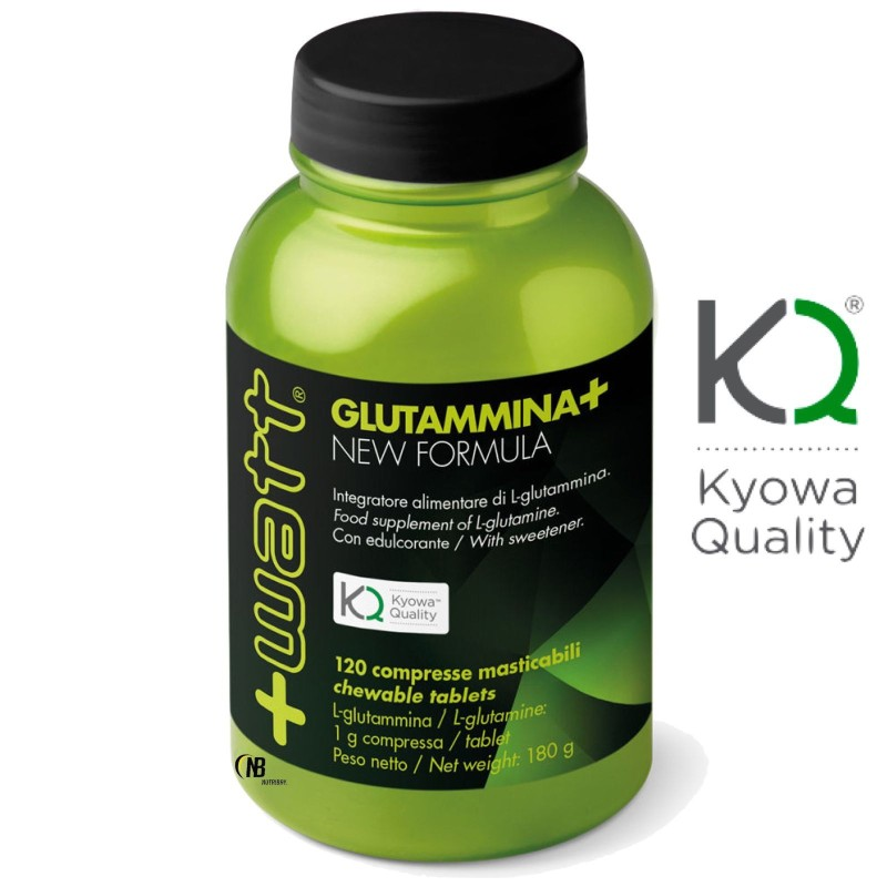 +Watt Glutammina+ 120 compresse qualita' Kyowa L-Glutamina in vendita su Nutribay.it