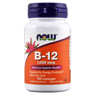 NOW FOODS B-12 100 cpr 1000 mcg - VITAMINE in vendita su Nutribay.it