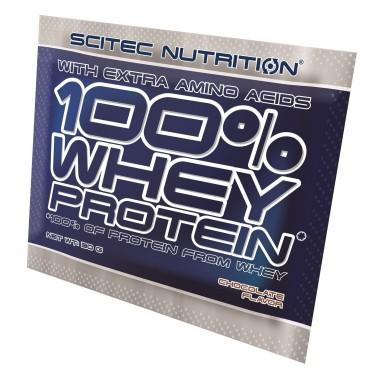 SCITEC 100% Whey Protein BUSTA MONODOSE da 30 gr. Proteine Siero del Latte in vendita su Nutribay.it