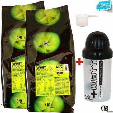 +WATT WHEY PROTEIN 90 2x750gr PROTEINE DEL SIERO DEL LATTE ISOLATE + SHAKER in vendita su Nutribay.it