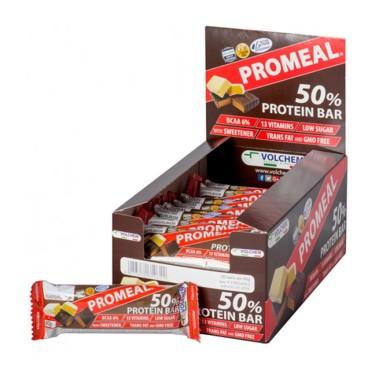 VOLCHEM Promeal 50% di Proteine 20 Barrette Proteiche da 60 gr in vendita su Nutribay.it