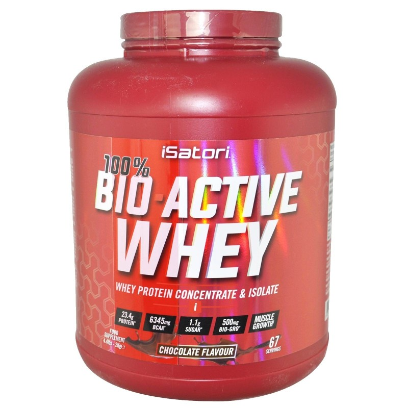 ISATORI Bio-Active 100% Whey 2 KG Proteine con BIO-GROPEPTIDES - PROTEINE in vendita su Nutribay.it