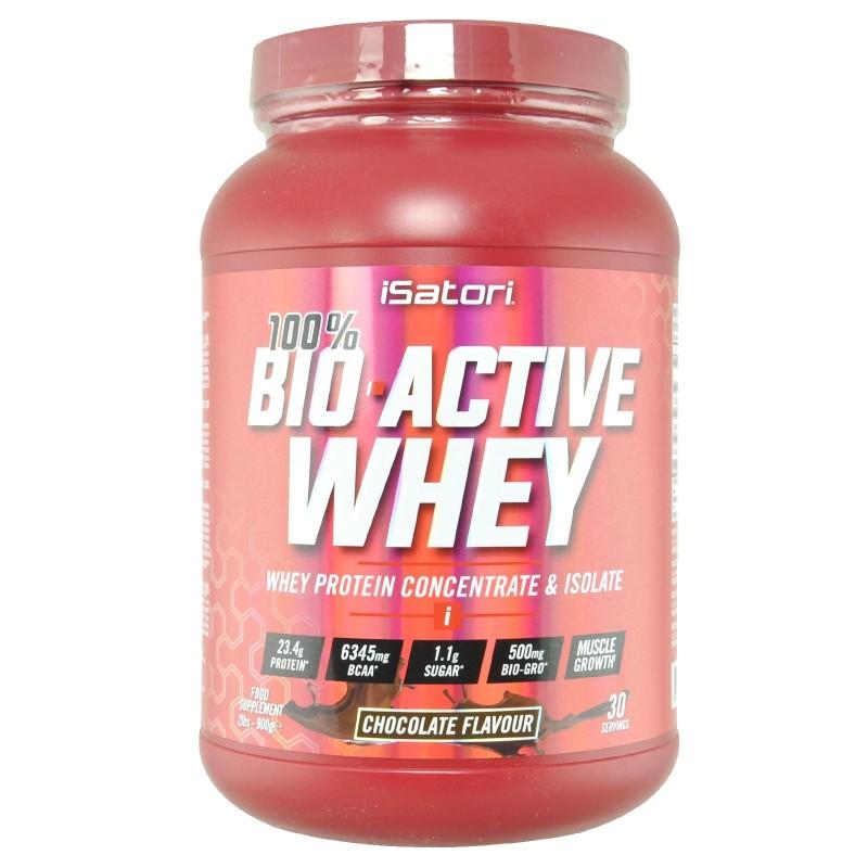 ISATORI Bio-Active 100% Whey proteine BIO-GRO PEPTIDES - 900 gr. - PROTEINE in vendita su Nutribay.it