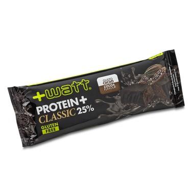 +WATT Protein+ Classic 25% Proteine Barretta proteica 40 gr. Gluten Free in vendita su Nutribay.it