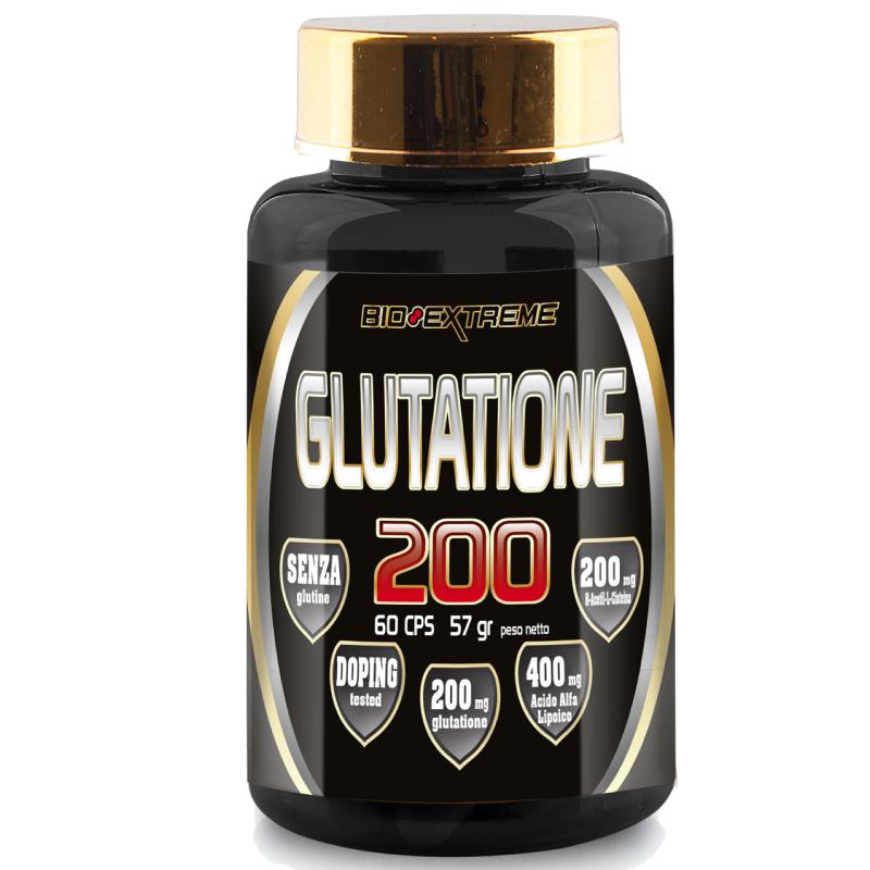 BIO-EXTREME SPORT NUTRITION Glutatione Ala 200 - 60 caps - BENESSERE-SALUTE in vendita su Nutribay.it