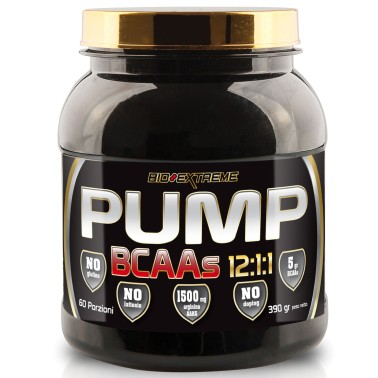 BIO-EXTREME SPORT NUTRITION Pump BCAAs 12:1:1 - 300 tabs - AMINOACIDI 3.1.2 - 4.1.1 - 10.1.1 - 12.1.1 in vendita su Nutribay.it