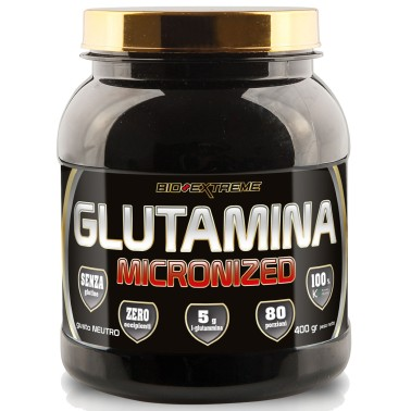 BIO-EXTREME SPORT NUTRITION Glutamina micronized - 400 gr - GLUTAMMINA in vendita su Nutribay.it