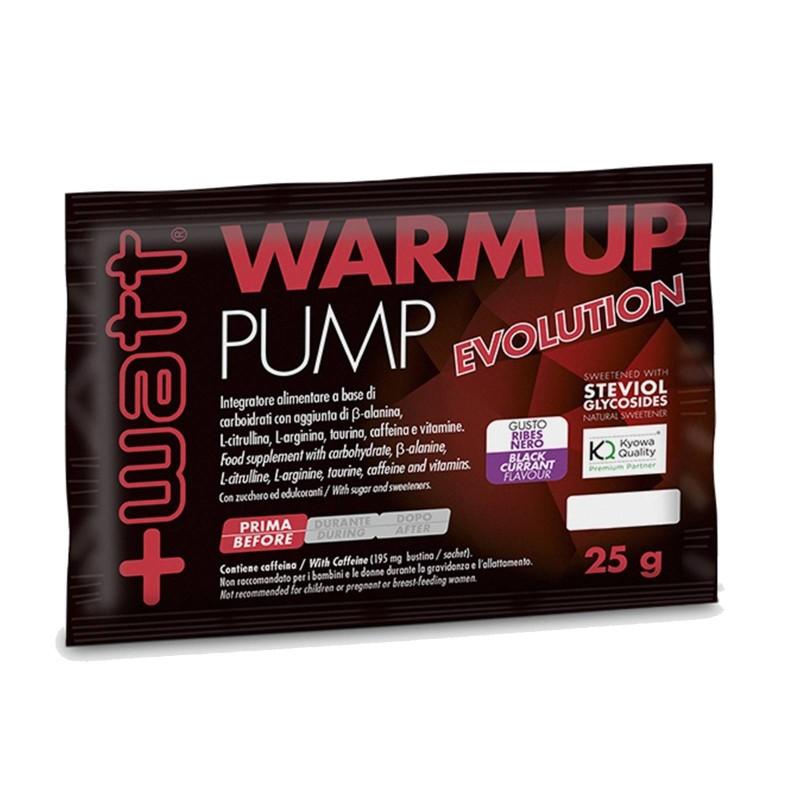 +WATT Warm Up Pump Evolution Busta da 25 gr con Aminoacidi Bcaa Kyowa Beta alanina citrullina arginina caffeina e vitamine. i...