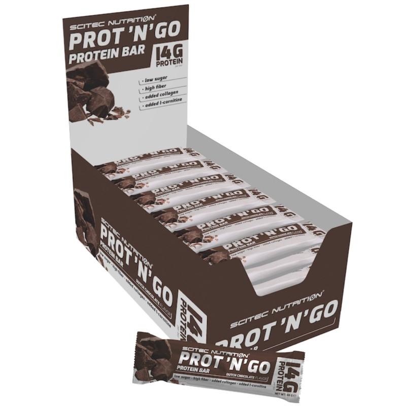 SCITEC NUTRITION PROT'N'GO 12 Barrette Proteiche da 45 gr in vendita su Nutribay.it