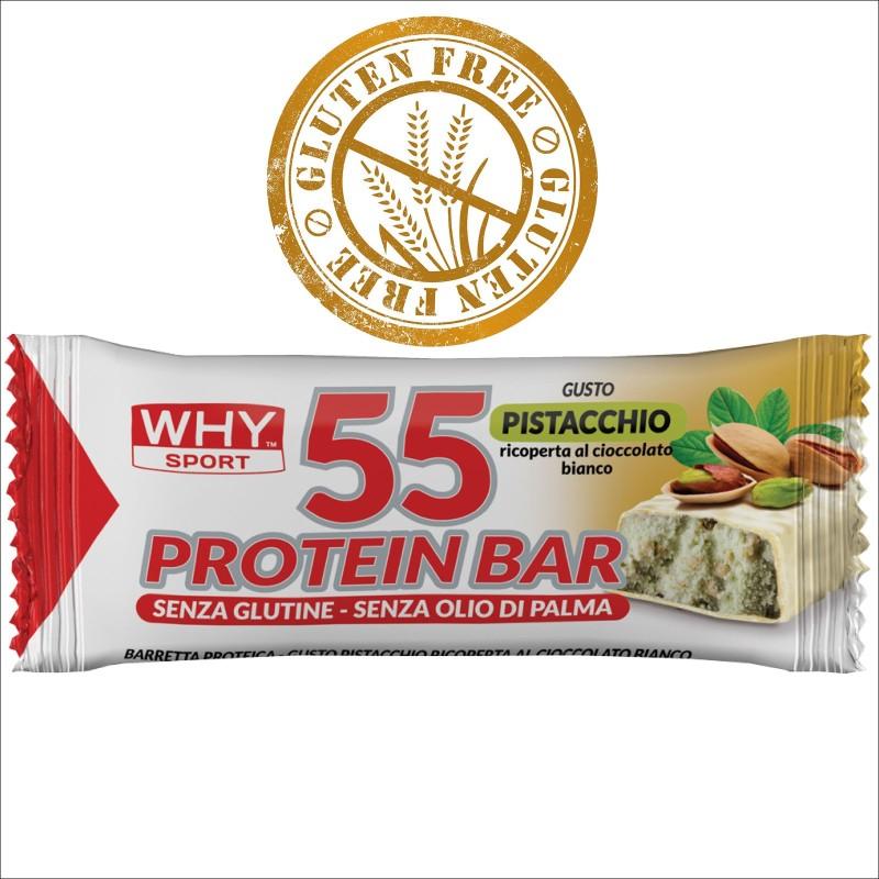 Why Sport Protein Bar BarrettA Proteica da 55 gr. con Vitamine GLUTEN FREE - BARRETTE in vendita su Nutribay.it