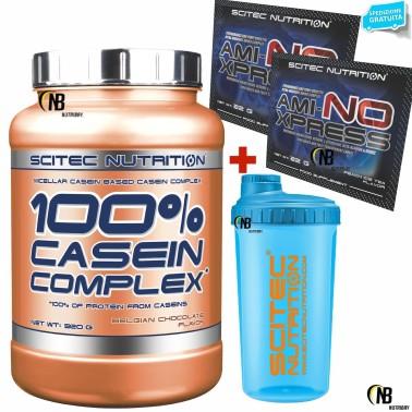 SCITEC NUTRITION 100% Casein Complex 920 g + Shaker Proteine Whey Caseine + Bcaa in vendita su Nutribay.it