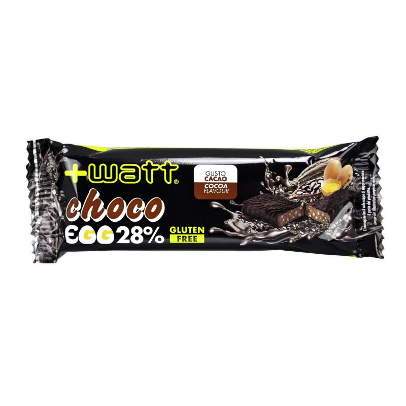 +WATT Choco Egg 28% Barretta Proteica da 40 gr con Proteine dell Uovo BARRETTE in vendita su Nutribay.it