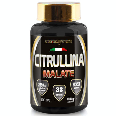 BIO-EXTREME SPORT NUTRITION Citrullina Malate - 100 CAPS PRE ALLENAMENTO in vendita su Nutribay.it