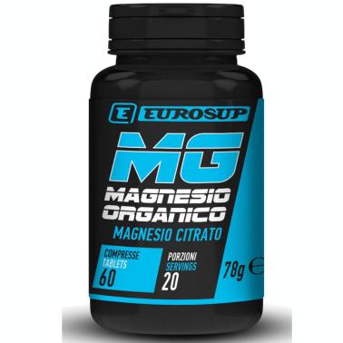 Eurosup Magnesio Organico Citrato 60 cpr. Integratore di Magnesio in Compresse