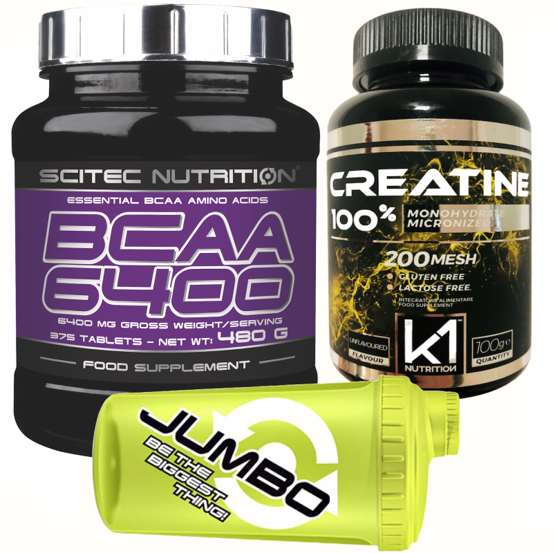 SCITEC NUTRITION BCAA 6400 Aminoacidi Ramificati 375cpr +100% creatine creatina in vendita su Nutribay.it