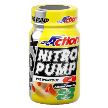 PROACTION Nox Nitro Pump 60 cpr. Gh Booster con Arginina Akg Ornitina e Citrullina Malato in vendita su Nutribay.it