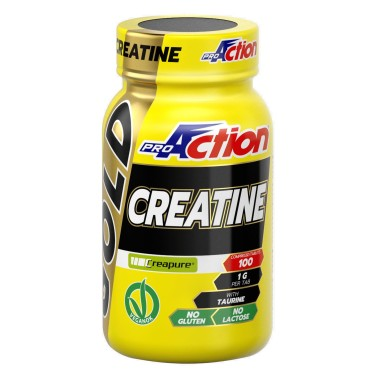 PROACTION Gold creatine 100 cpr Creatina Creapure in compresse con Taurina Extra in vendita su Nutribay.it