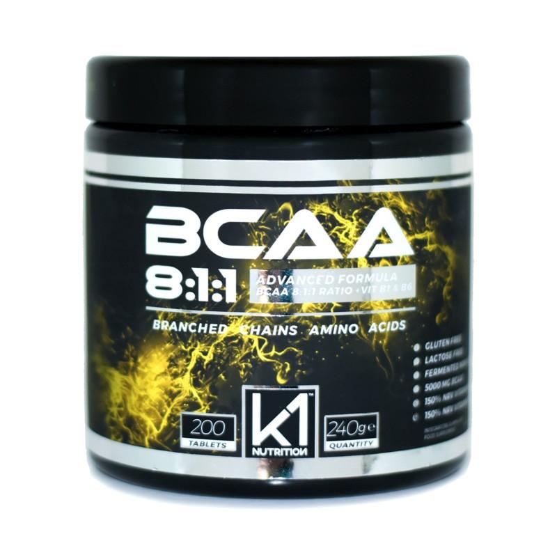 K1 Nutrition BCAA 8:1:1 200 cpr Aminoacidi Ramificati 811 con Vitamina B1 e B6 AMINOACIDI BCAA 8.1.1 in vendita su Nutribay.it